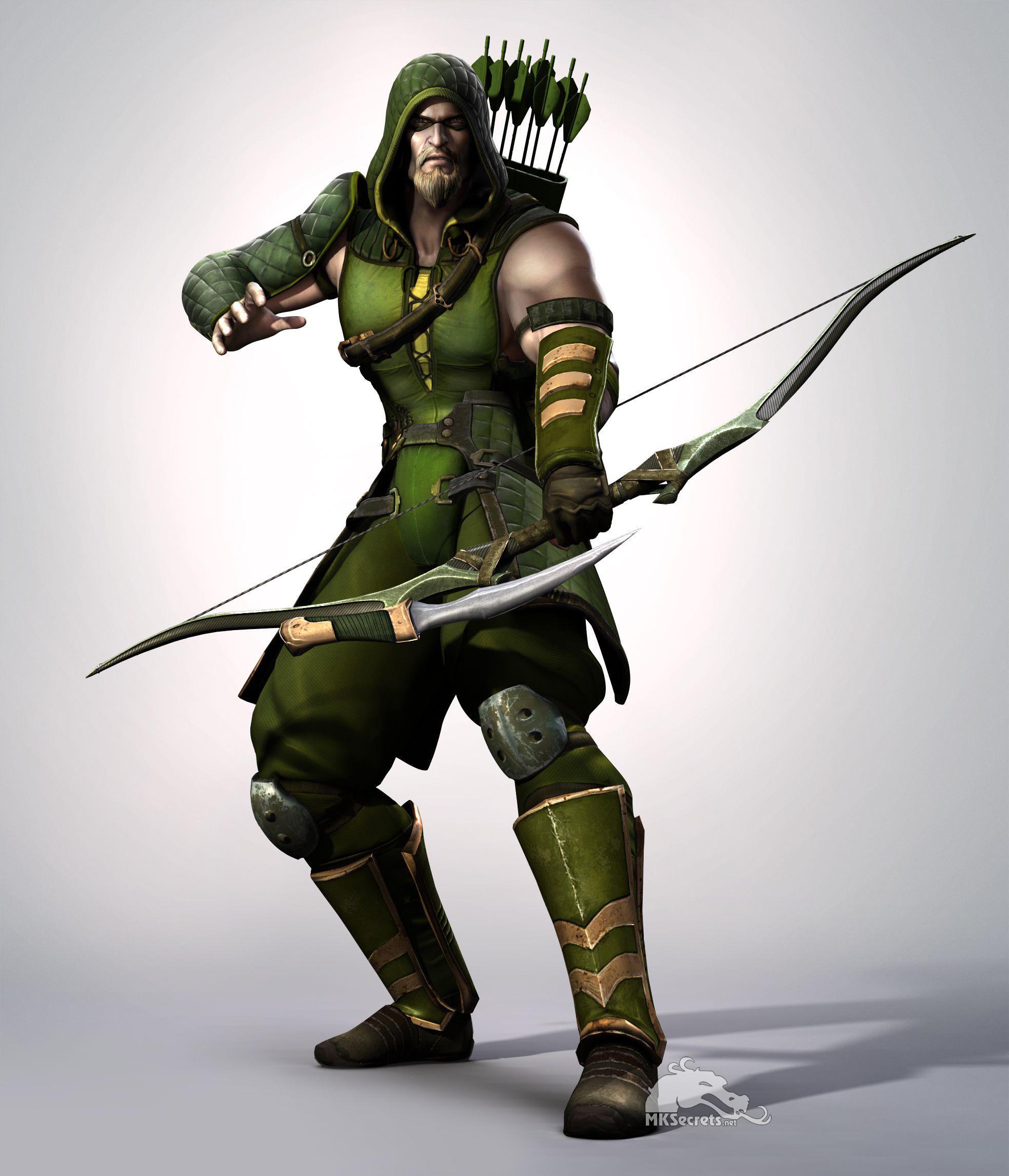 Injustice Gods Among Us Green Arrow Render