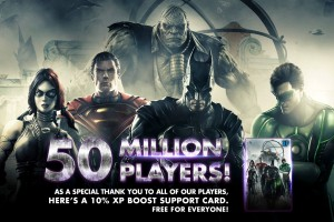 Injustice: Gods Among Us Mobile has reached 50 million players