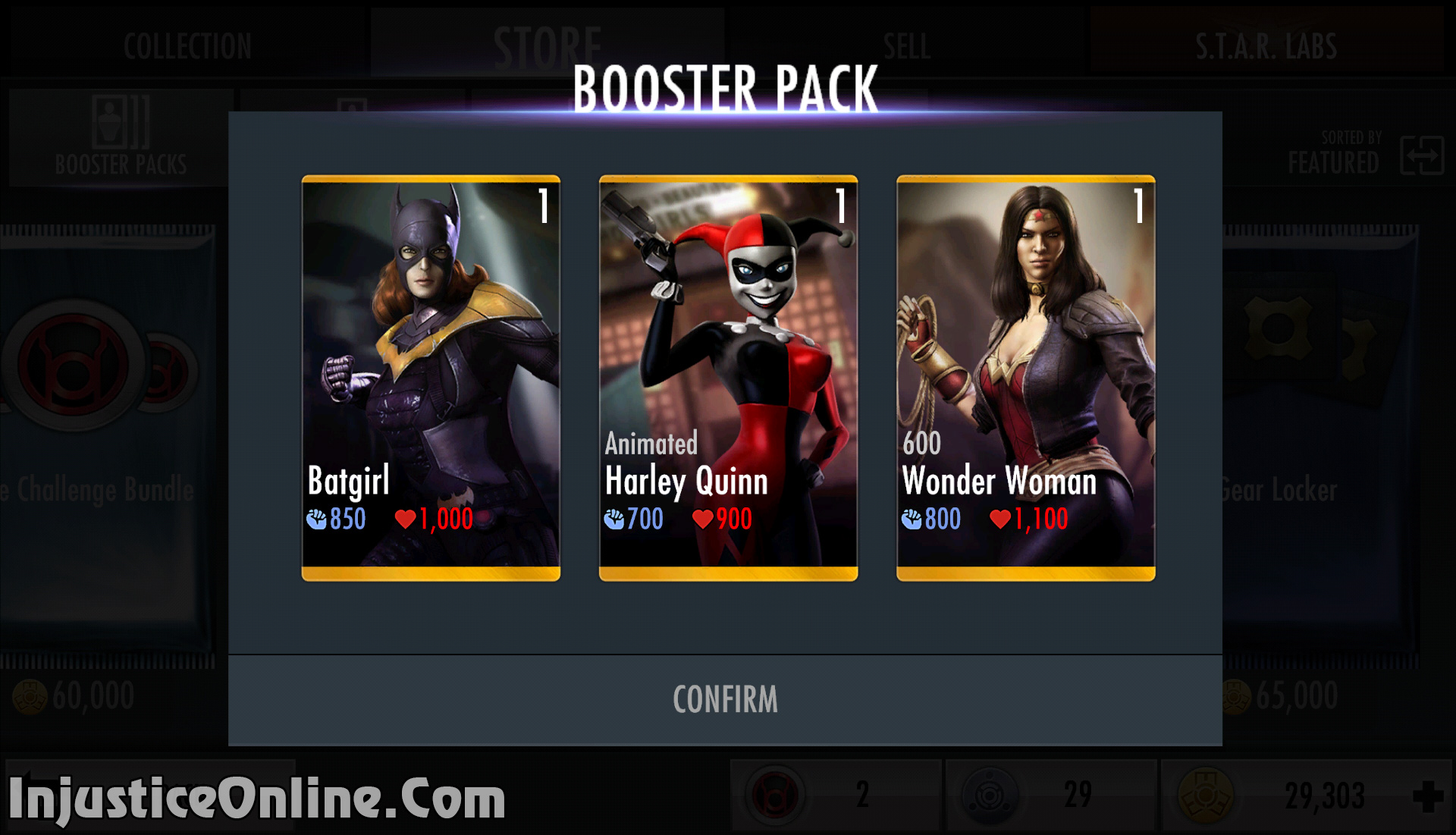 Injustice Starter Pack Characters Injustice Mobile Femme Fatale Booster Pack Bought