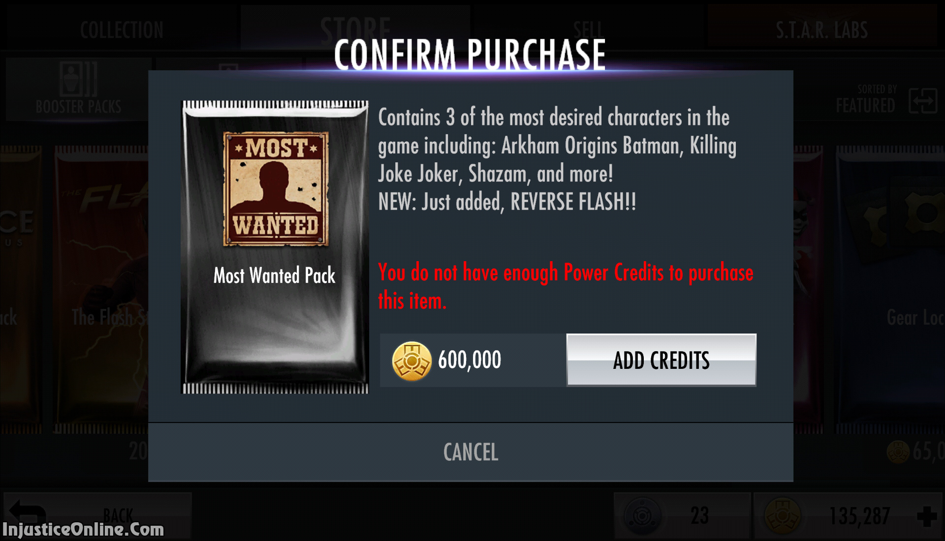 Injustice Starter Pack Characters Injustice Mobile How To Get Reverse Flash