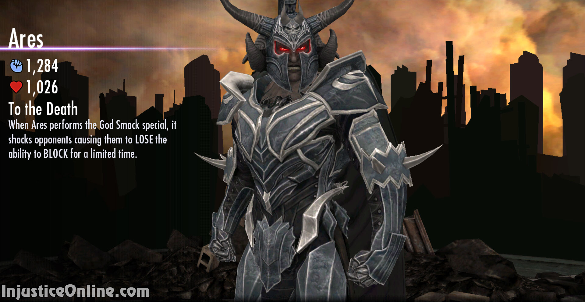 injustice gods among us mobile ares online challenge. Black Bedroom Furniture Sets. Home Design Ideas