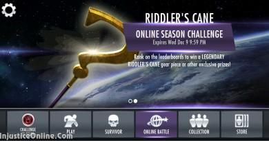 Riddler's Cane Legendary Gear Multiplayer Challenge For Injustice Mobile