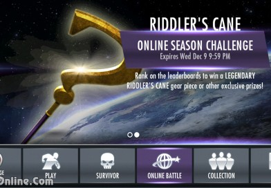 Riddler's Cane Legendary Gear Multiplayer Challenge For Injustice Mobile