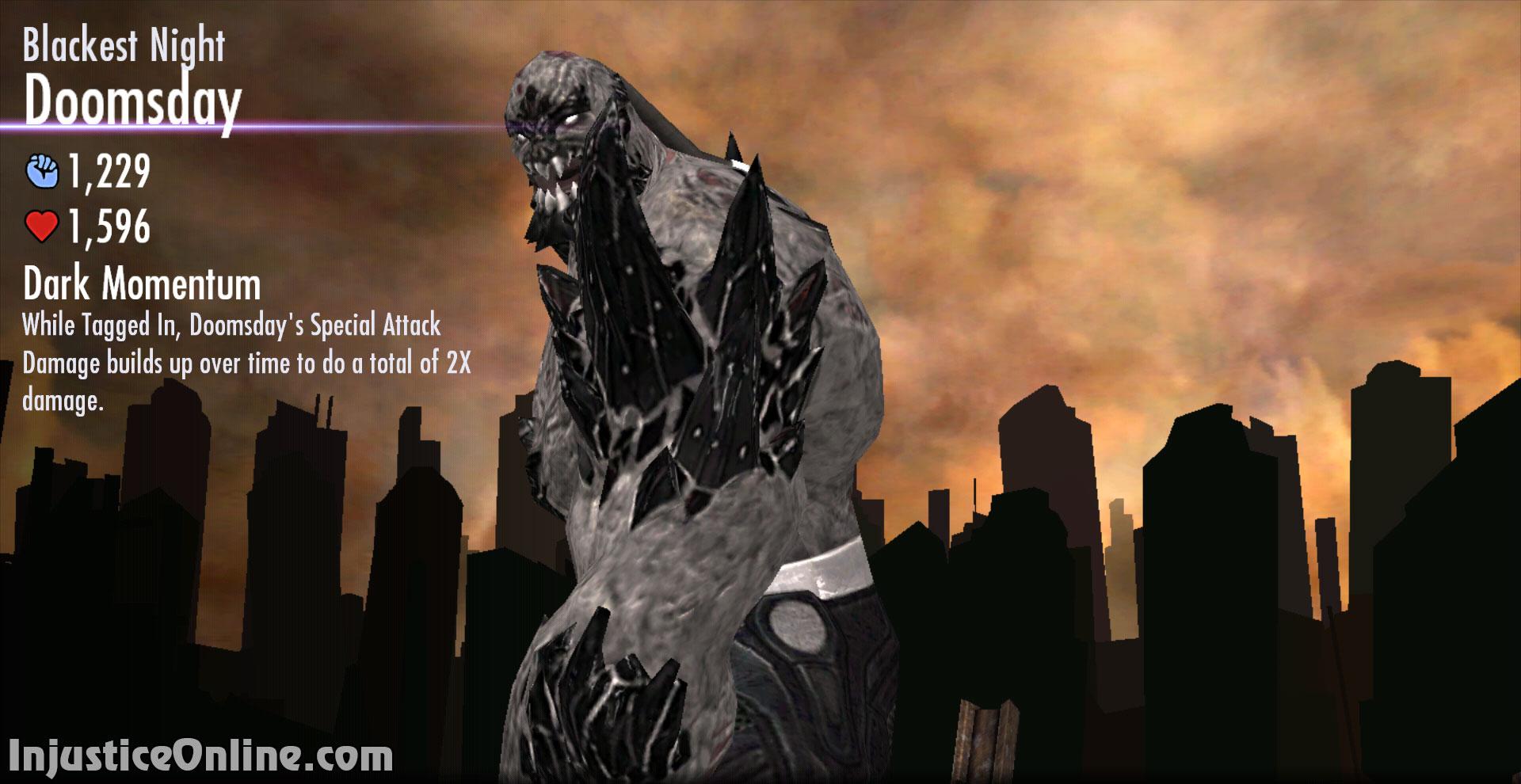 Injustice Gods Among Us Mobile Blackest Night Doomsday