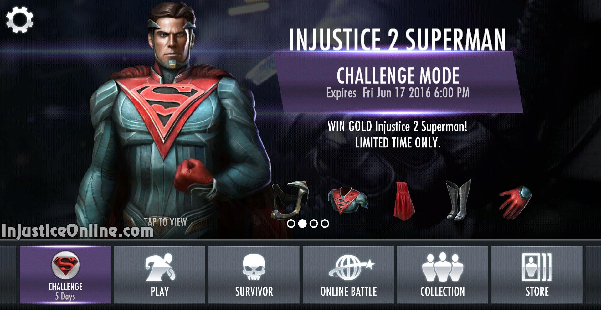 Injustice 2 superman challenge for injustice mobile injustice online