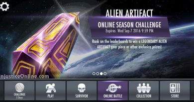 Alien Artifact (Mother Box) Gear Multiplayer Challenge For Injustice Mobile