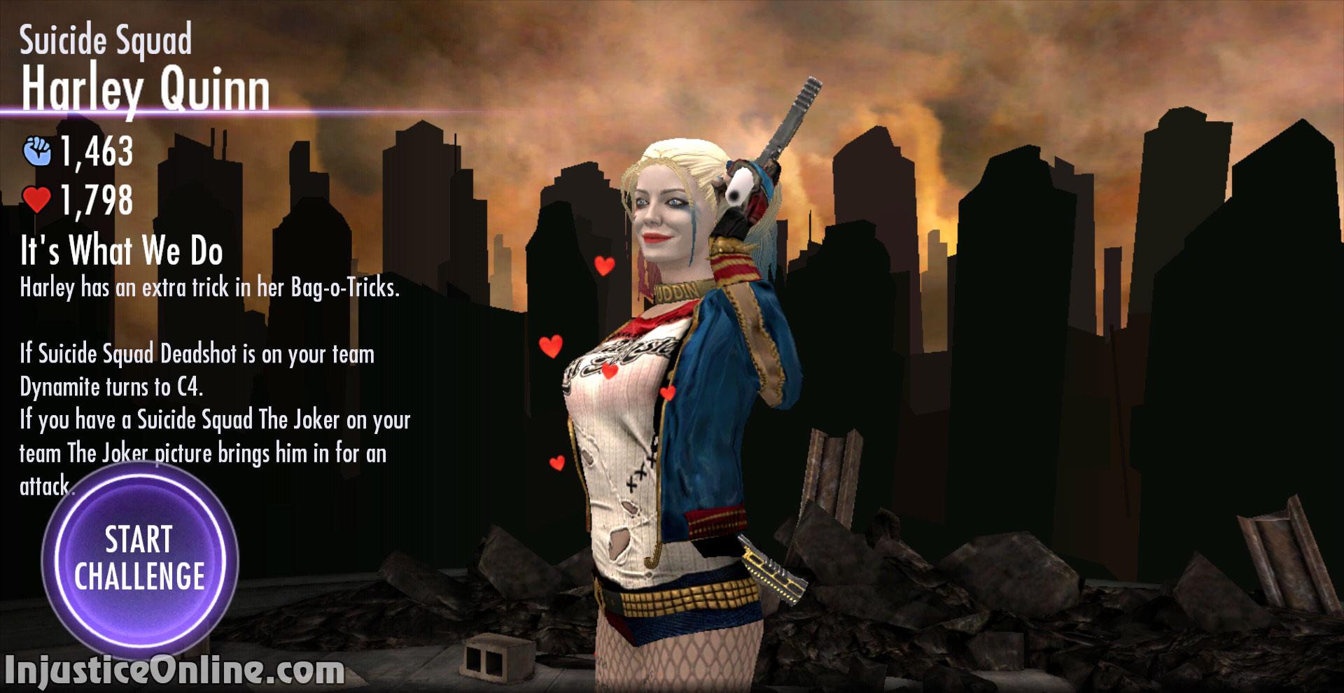 Injustice Gods Among Us Mobile Suicide Squad Harley Quinn Challenge Screenshot 03