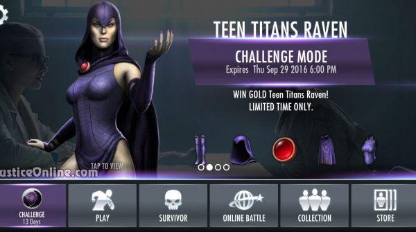 Teen Titan Raven Challenge For Injustice Mobile