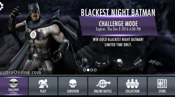 Blackest Night Batman Challenge For Injustice Mobile