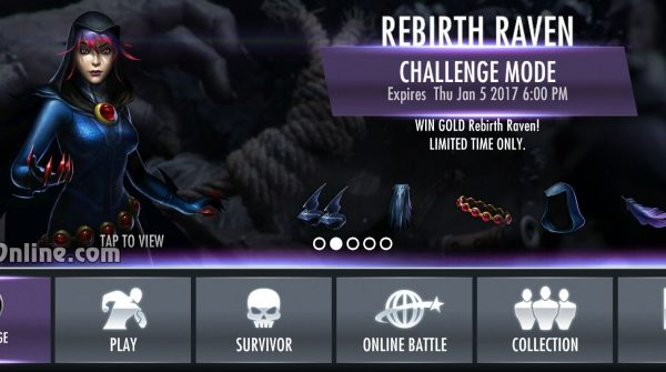 Rebirth Raven Challenge For Injustice Mobile