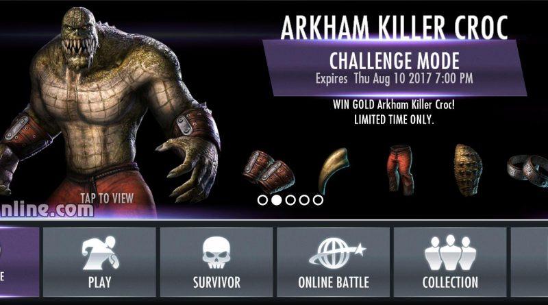 Arkham Killer Croc Challenge For Injustice Mobile