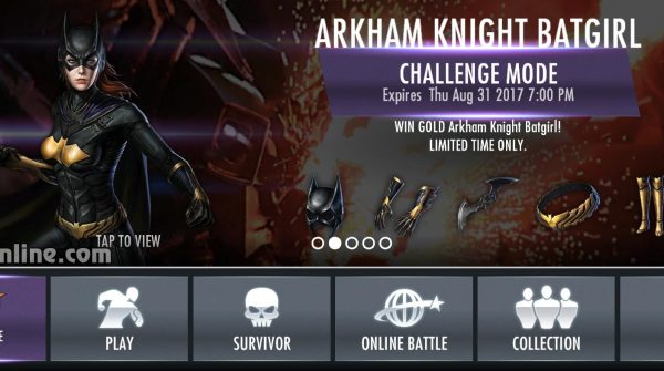 Arkham Knight Batgirl Challenge For Injustice Mobile