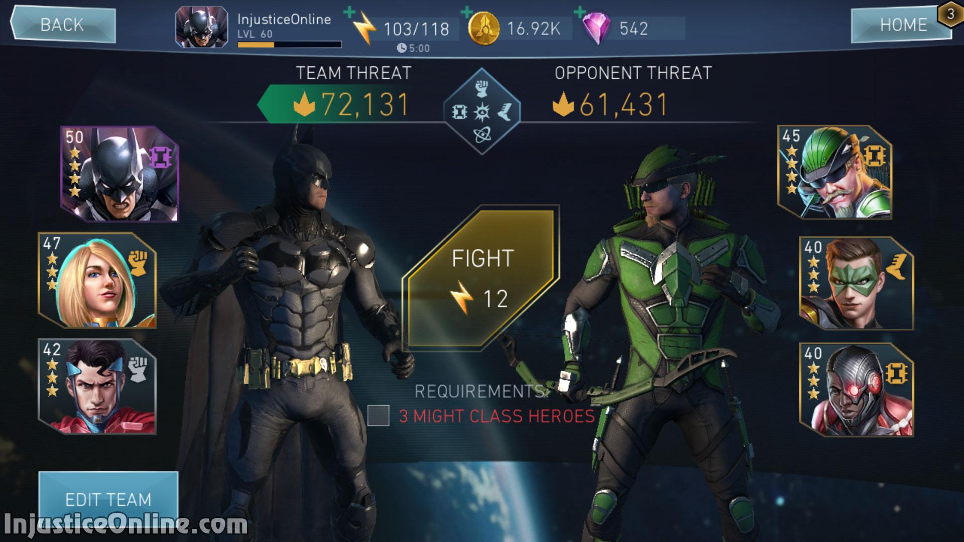 Injustice 2 Mobile Ace Green Arrow Challenge Screenshot 03
