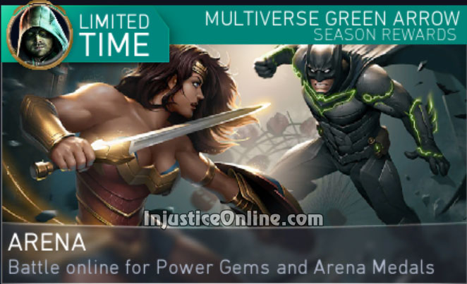 Multiverse Green Arrow Arena Season For Injustice 2 Mobile